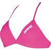 arena Solid Tie Back bikini Dames roze